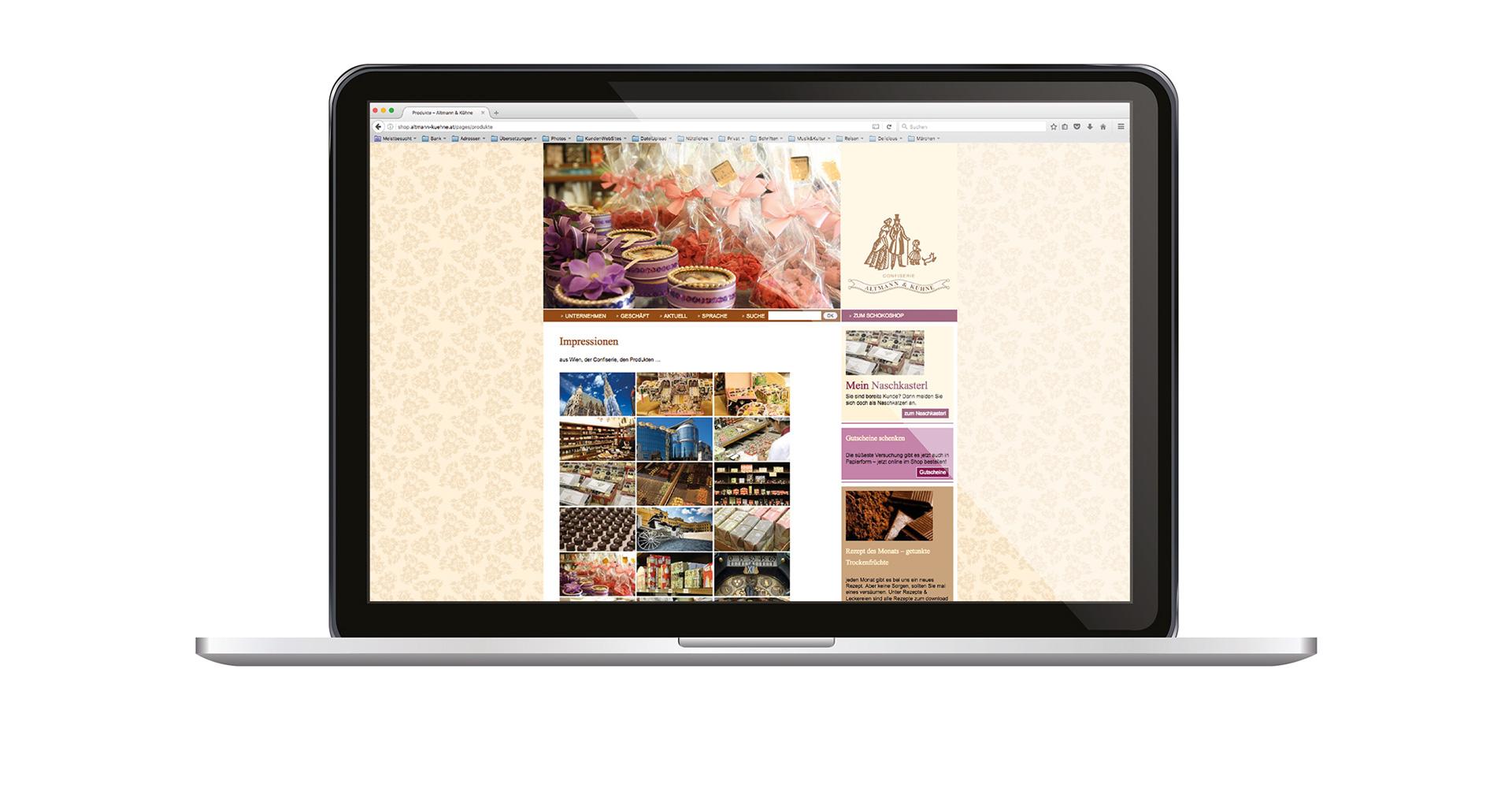 ALTMANN & KÜHNE _ webauftritt & webshop