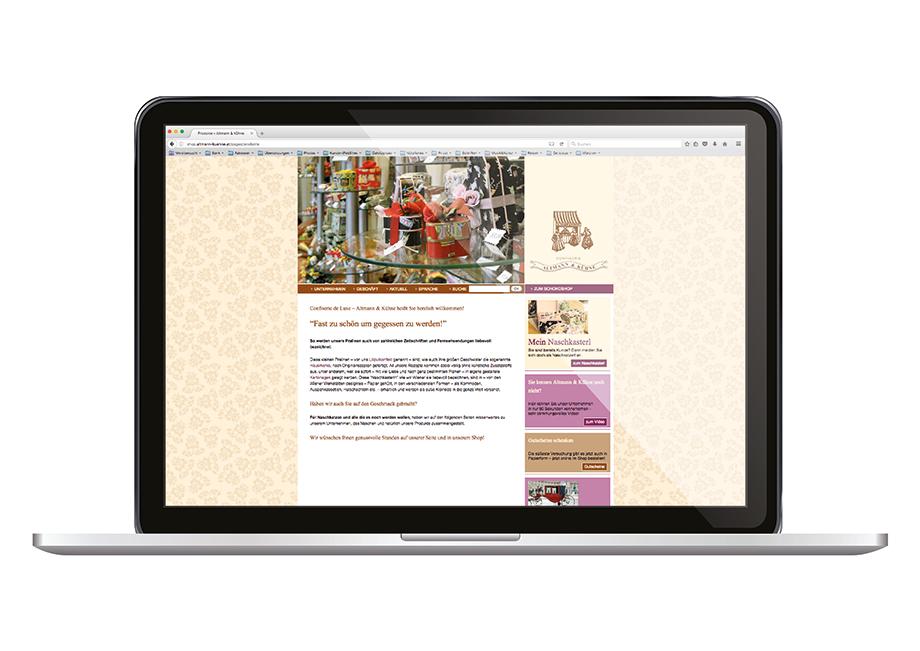 Altmann und Kühne _ webauftritt & webshop